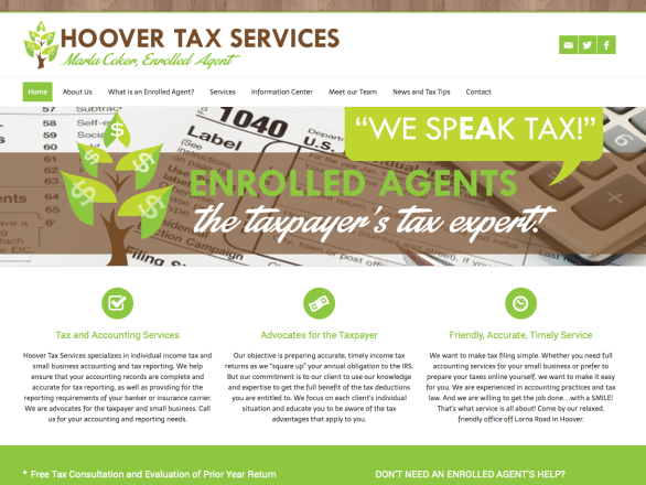 Hoover Tax Services Website